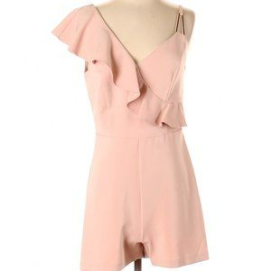 New Look Pink Dressy Romper Ruffled Playsuit